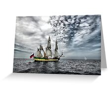 Frigate Shtandart Greeting Card