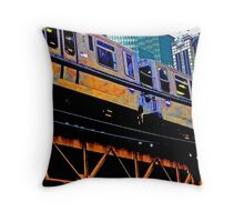 { chicago l, chicago el - series: 1 } Throw Pillow