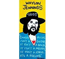 Waylon Jennings Folk Art Photographic Print
