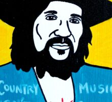 Waylon Jennings Folk Art Sticker