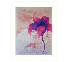 i ate a lotus flower Art Print