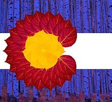 aspen tree Colorado flag by Emily Christine Lankford