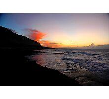 North Shore Sunset Photographic Print
