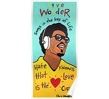 Stevie Wonder Pop Folk  Art Poster