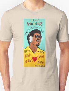 Stevie Wonder Pop Folk  Art T-Shirt