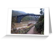 The River Severn in flood Greeting Card