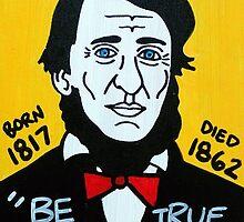 Henry David Thoreau by krusefolkart