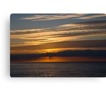 Sunset skies, Cromer. Canvas Print