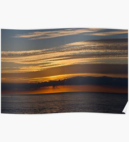 Sunset skies, Cromer. Poster