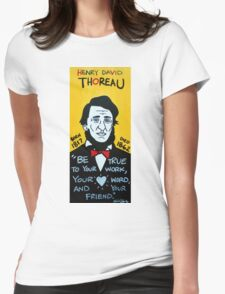 Henry David Thoreau Womens Fitted T-Shirt