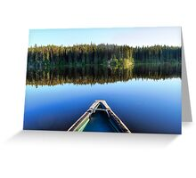 Canoeing on Lonely Lake Greeting Card