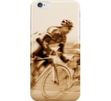 Two Cyclists Battling for the Lead - Sepia Tones iPhone Case/Skin