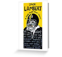 Jack Lambert Steelers Football Folk Art Greeting Card