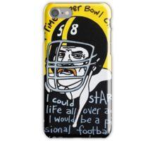 Jack Lambert Steelers Football Folk Art iPhone Case/Skin
