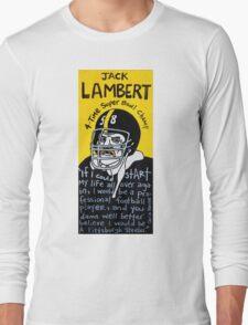 Jack Lambert Steelers Football Folk Art Long Sleeve T-Shirt