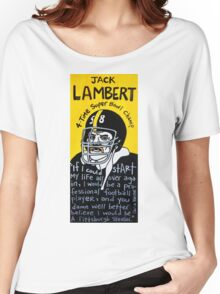 Jack Lambert Steelers Football Folk Art Women's Relaxed Fit T-Shirt