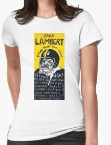 Jack Lambert Steelers Football Folk Art Womens Fitted T-Shirt