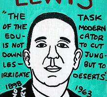 C.S. Lewis Folk Art by krusefolkart