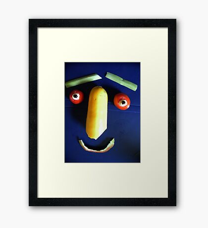 Eat me if you want to! Framed Print