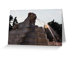 Rome's Fabulous Fountains - Piazza del Popolo Lion Greeting Card