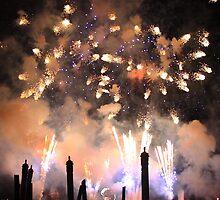 Fireworks on the Lagoon II by David Lamb
