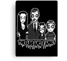 The Addams Family Portrait Canvas Print