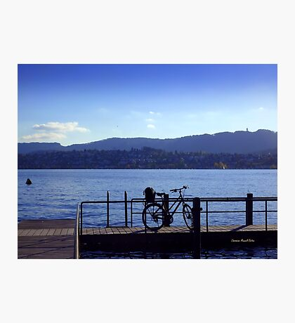 Bicycle at Zürichsee Photographic Print