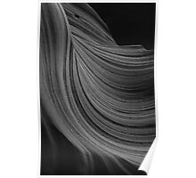 The Sandstone Wave B&W Poster