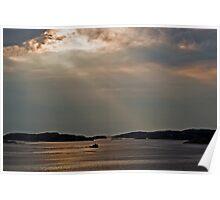 Sunset in Sweden Poster