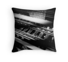 """an empty train track is my own private melody."" ShellyKay~ Throw Pillow"