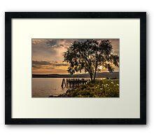 Verplanck Point Sunset  Framed Print