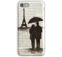 Couple Silhouette Paris Eiffel Tower iPhone Case/Skin