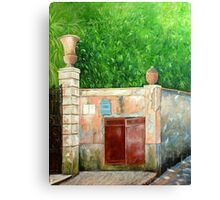 Behind the old wall Canvas Print