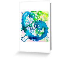 Renew : Abstract Watercolor  Greeting Card