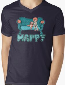 Happy Mens V-Neck T-Shirt