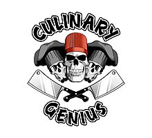 Culinary Genius. Skulls and Meat Cleavers Photographic Print