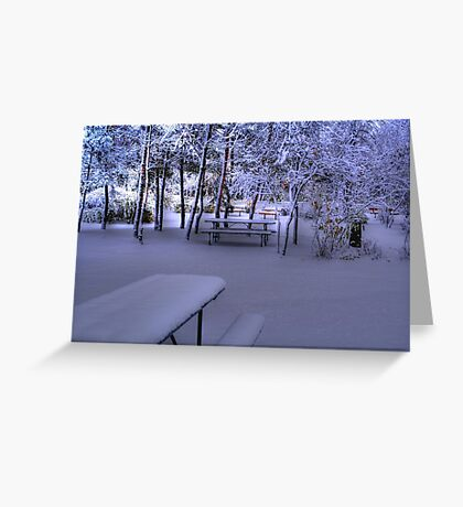 A FROSTY MORN - HDR Greeting Card