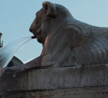 Rome's Fabulous Fountains - Piazza del Popolo Lion Sticker