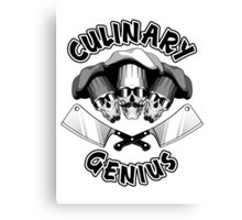 Culinary Genius. Chef Skulls and Cleavers Canvas Print