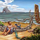 Manaia at the Beach by Matt Katz
