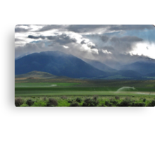 drive by....out the drivers window. Between Burns and Bend Oregon...going West Canvas Print