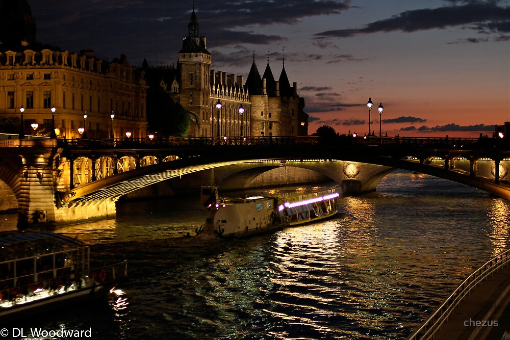 Seine at Night by chezus