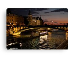 Seine at Night Canvas Print
