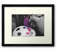 Painted Buddliah ~ With A Difference! Framed Print