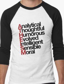 Atheism - (Black) Men's Baseball ¾ T-Shirt