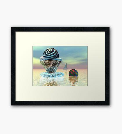 An ice cream on a hot day Framed Print