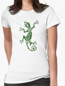 Lizard Tattoo -textured Womens Fitted T-Shirt