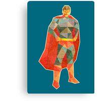 Superhero Lowpoly Canvas Print