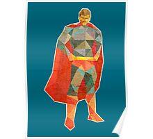 Superhero Lowpoly Poster