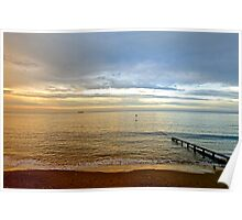 Evening Light, Shanklin Beach Poster